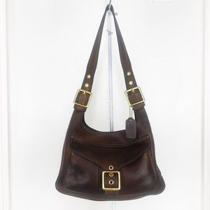 Coach Intentionally Distressed Leather Hippie Bag